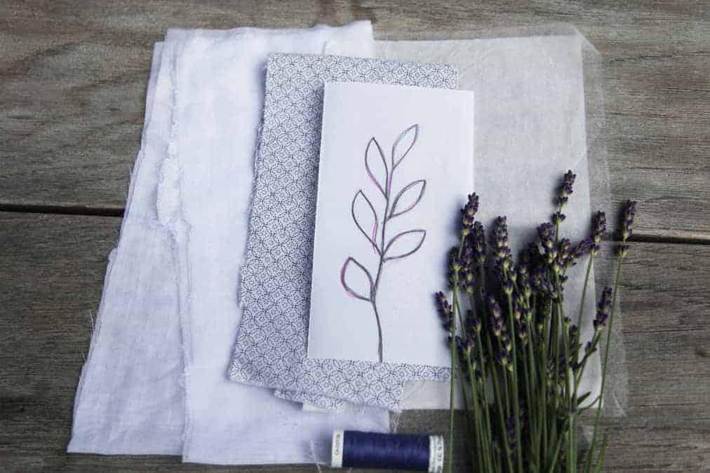 Materialbedarf für lavendelsäckchen