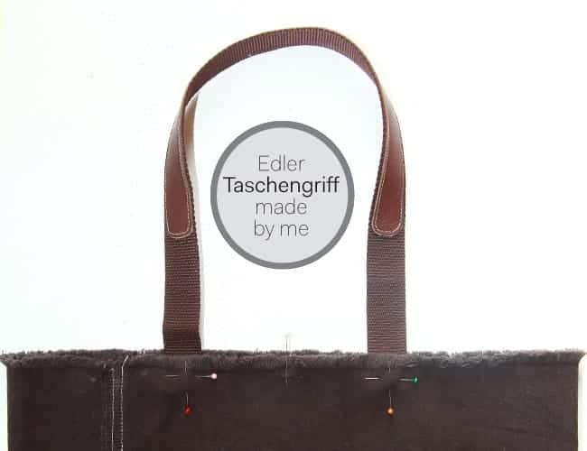 Taschengriff mit Lederpatch
