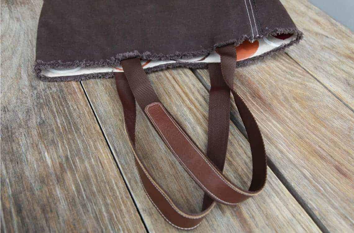 Taschengriffe mit Lederbesatz nähen