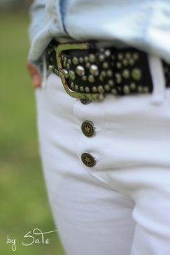 schnittmuster jeans damen Knopfleiste