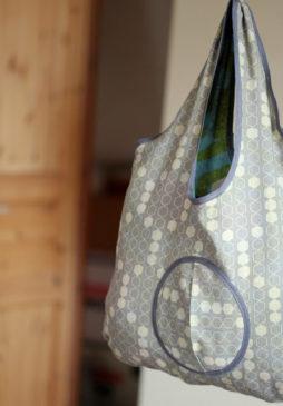 einfache faltbare Tasche nähen