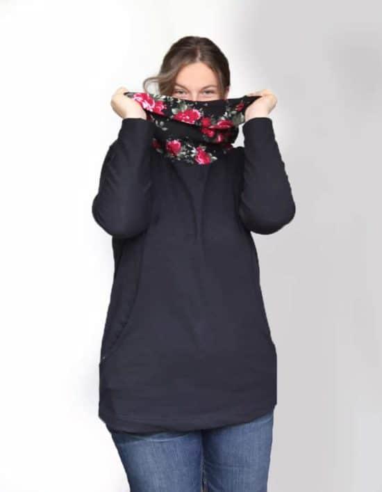 Schnittmuster Pullover großer Kragen