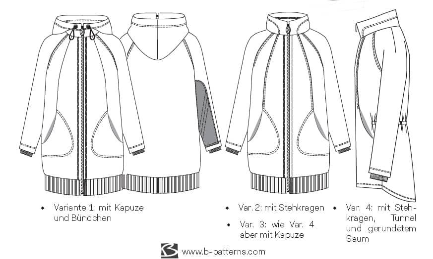 Schnittmuster Jacke Kajoschka Gr.34-44