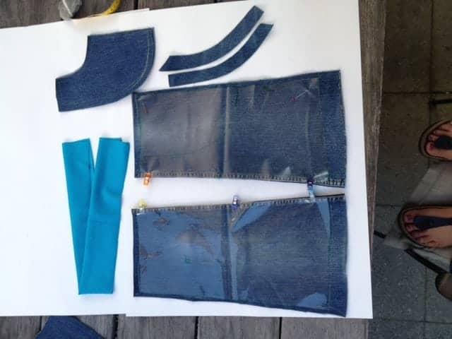 Jeansrefashion - aus alter Jeans einen Rock zuschneiden