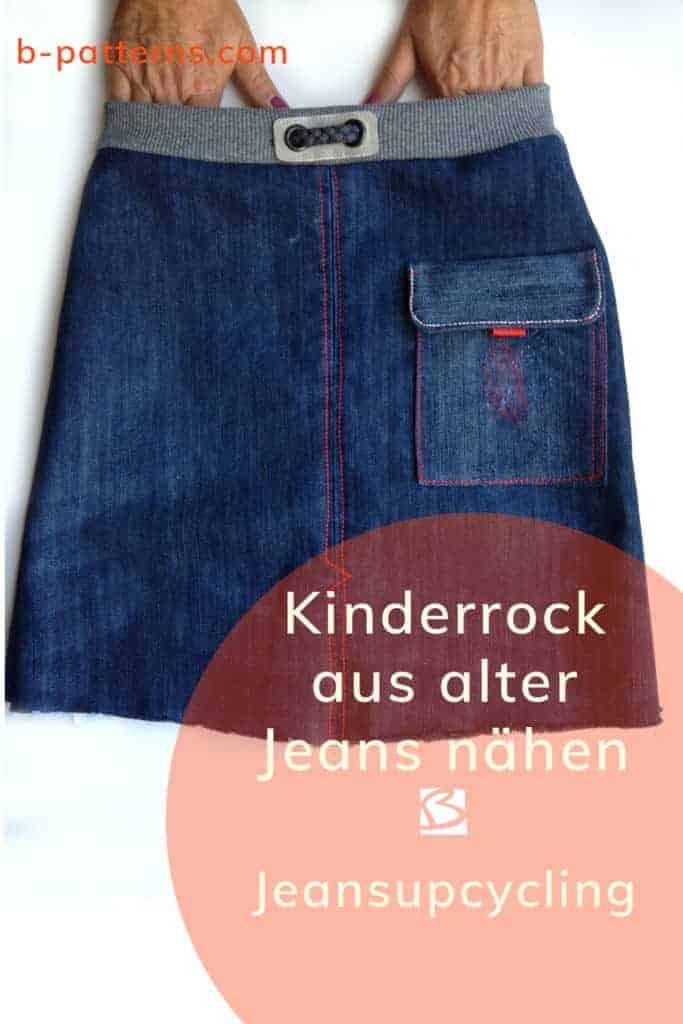Jeansrock Kinder aus alter Jeans