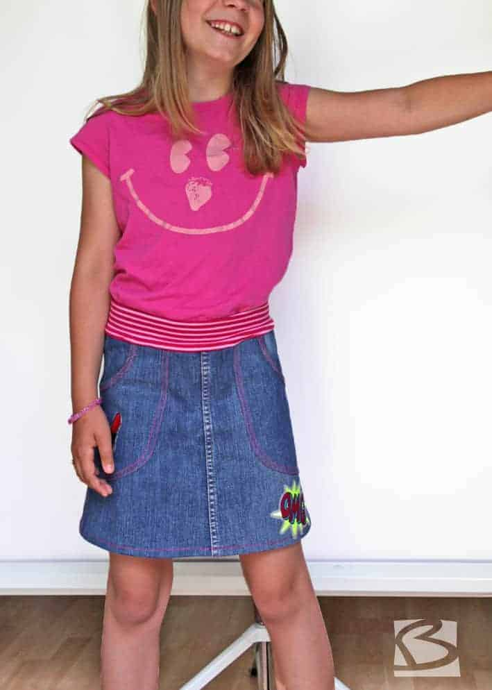 Jeansrefashion - kinderrock aus alter Jeans
