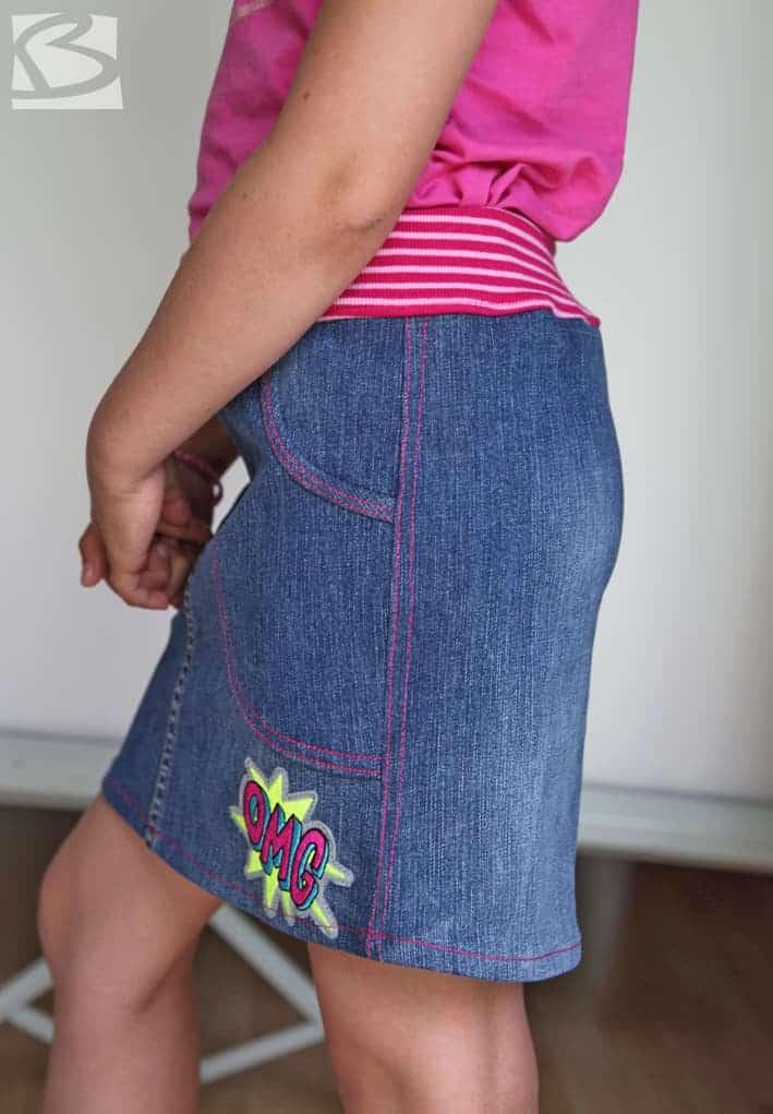Jeansrock für Kinder, Jeansrefashion