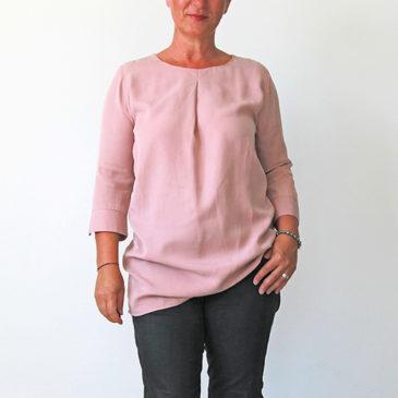 Schnittmuster für Bluse, Schlupfbluse ohne Knöpfe