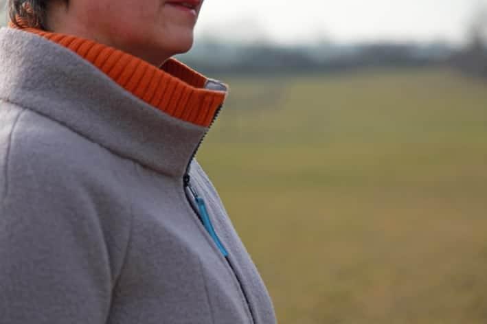 Stehkragen mit Strickbündchen - Walkjacke nähen