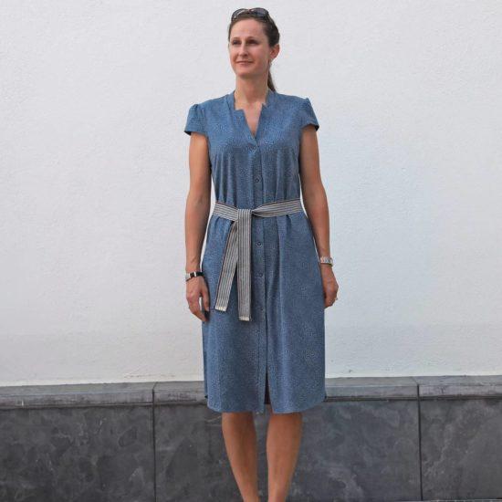 Schnittmuster Kleid mit Kappärmel
