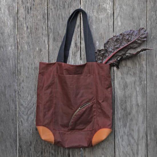 Taschenschnittmuster tragtasche oilskin canvas