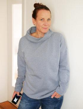Schnittmuster Pullover Damen Stehkragen