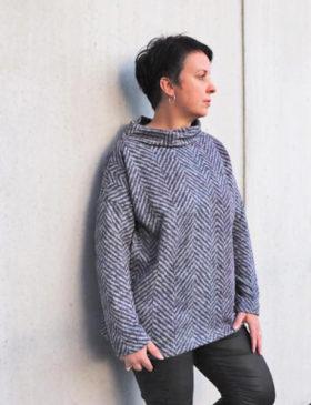 Schnittmuster oversized Pullover Damen