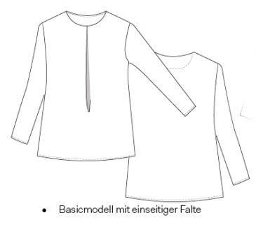 Bluse technische Zeichnung