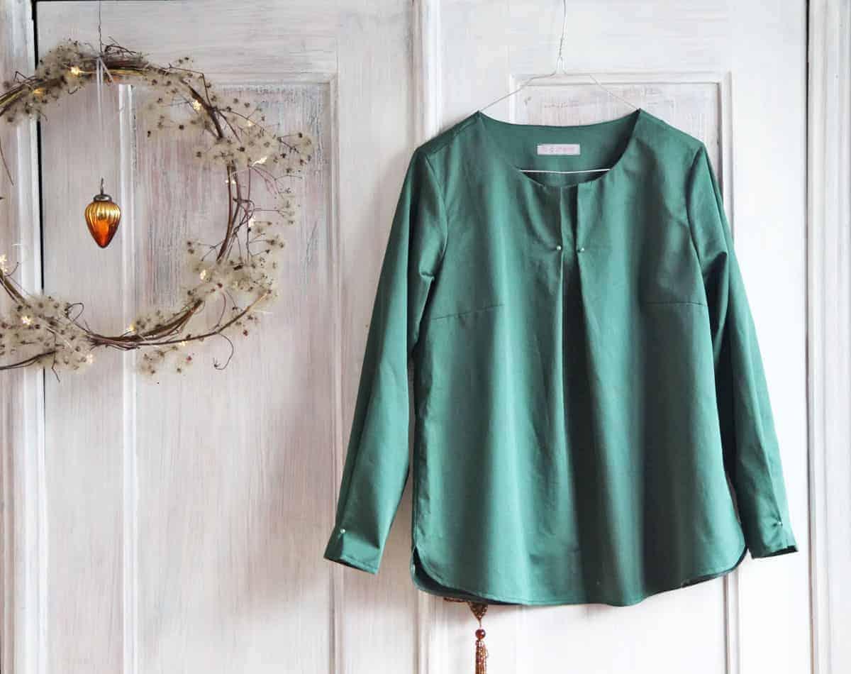 elegante Bluse nähen - aus Baumwollsatin