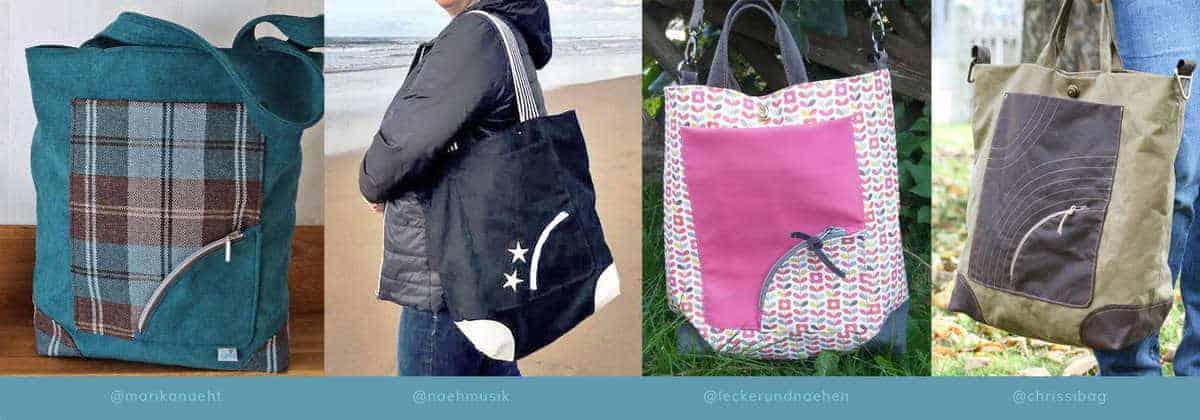 Naehbeispiele Shopper Bi_Bag - Taschenschnittmuster