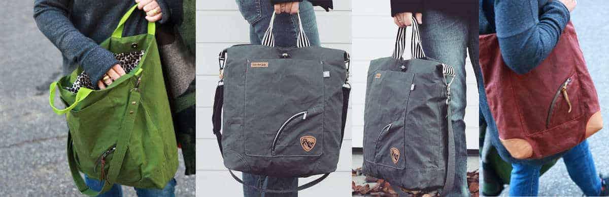 Nähbeispiele Tasche Bi_Bag aus Oilskin