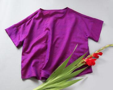 Blusenshirt im Kimonostyle
