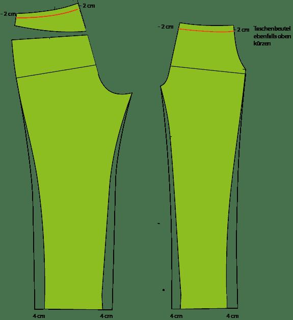 Schmale Hose Beinweite erweitern