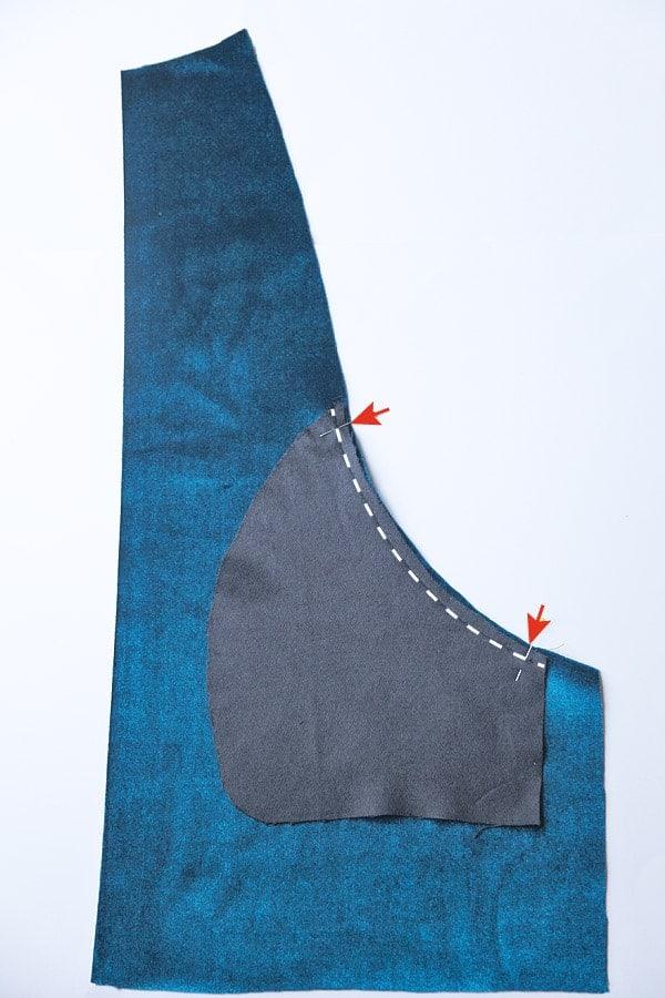 Übergangsjacke Taschen nähen