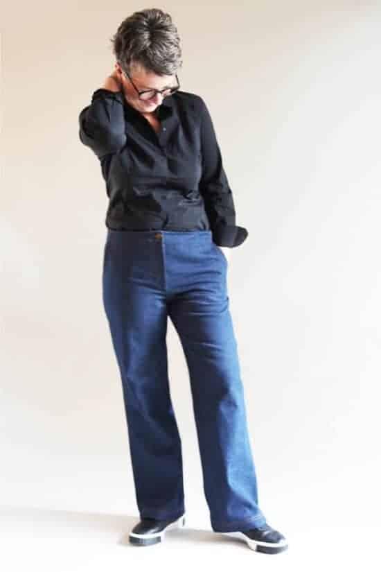 Schnittmuster Damenhose Jeans lässig