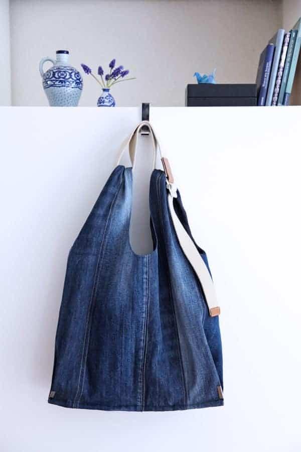 Jeanstasche nähen aus alten Jeans