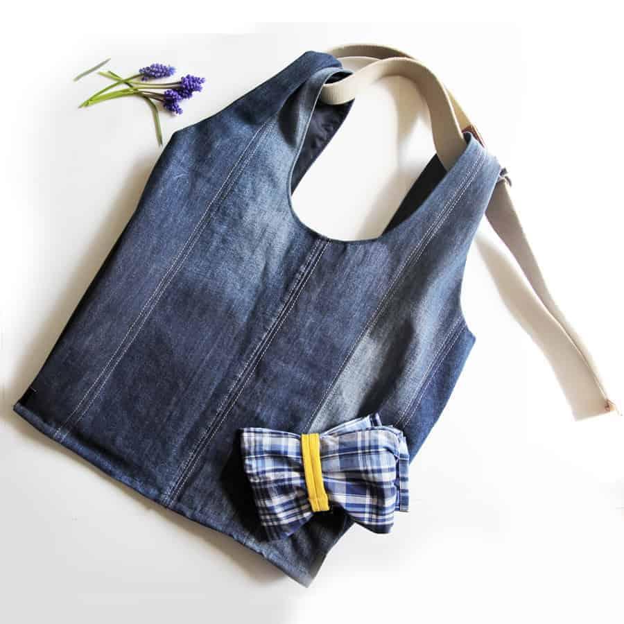 Tasche nähen aus alten Jeans