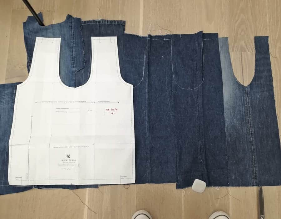 Upcycling Jeanstasche aus alter Jeans nähen