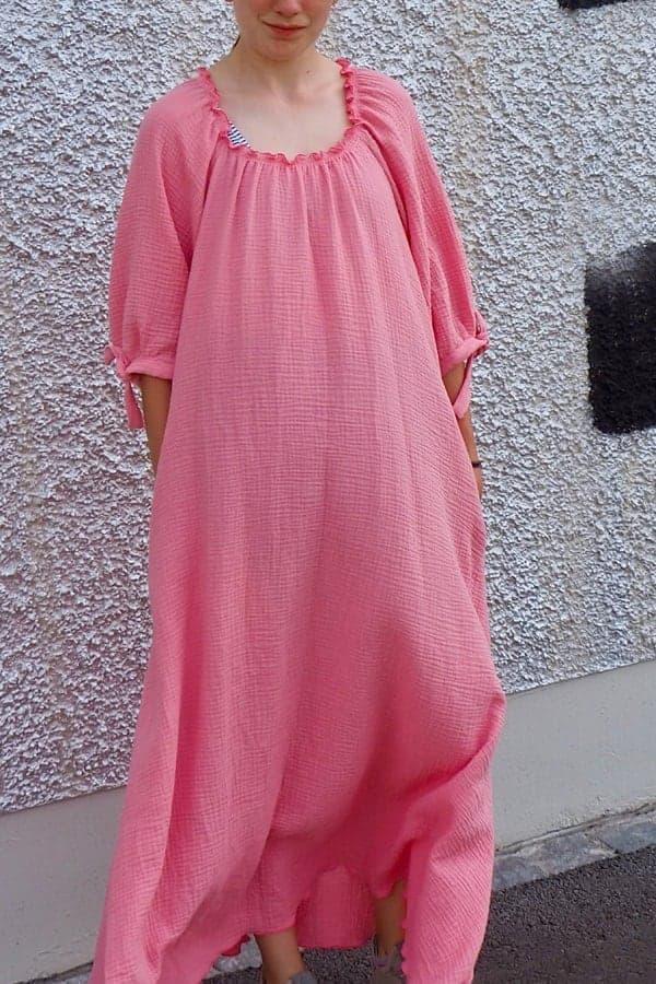 Sommerkleid mit Puffärmel