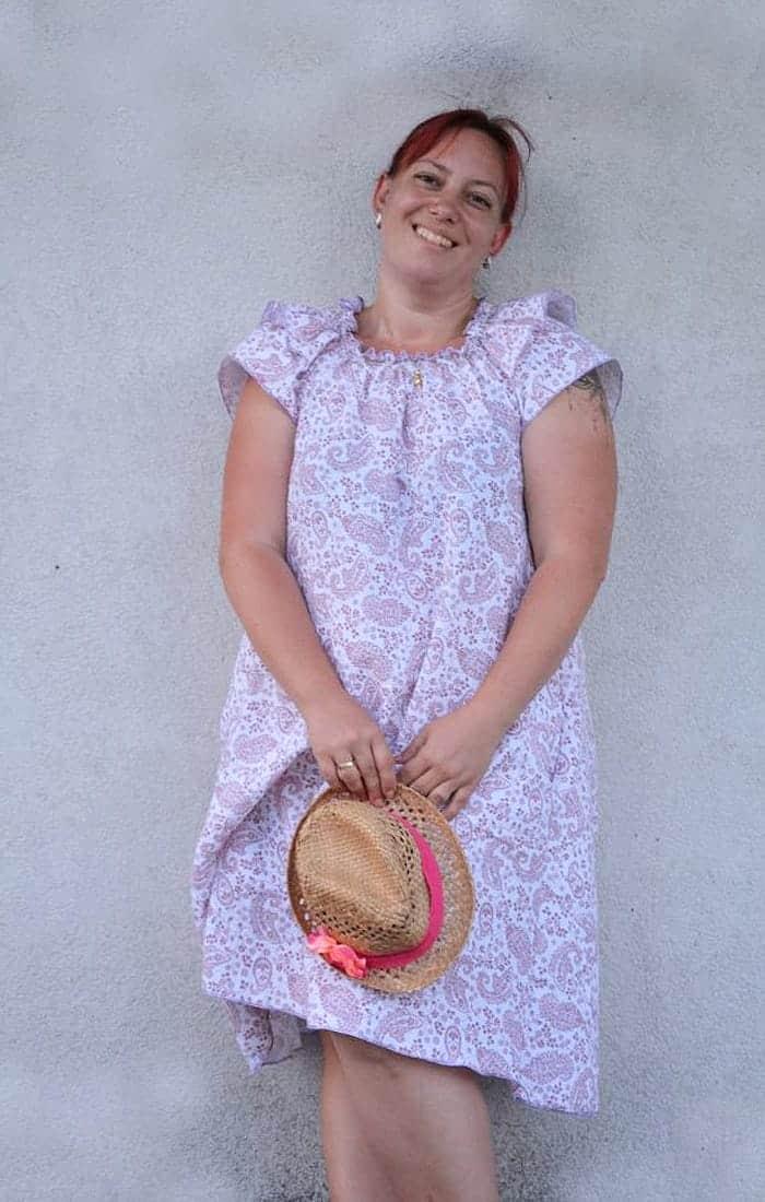 Kleid aus Musseline